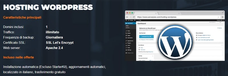 Hosting WordPress ServerPlan