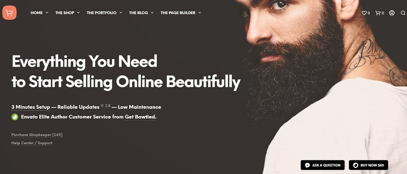 shopkeeper theme creare ecommerce fashion