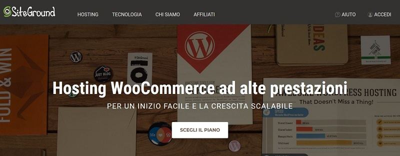 Spazio server per sito eCommerce - SiteGround WooCommerce