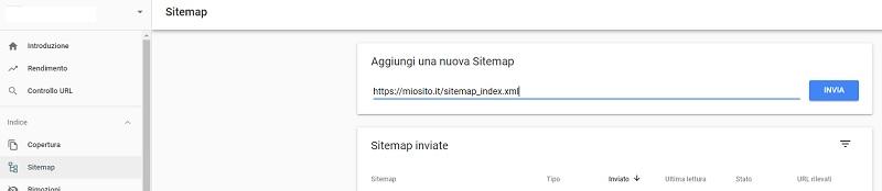 Invio della Sitemap a Google con Yoast