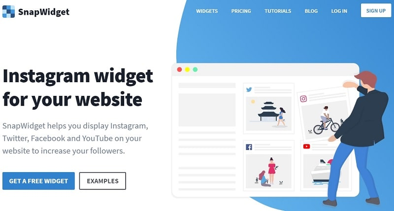 snap widget per inserire Instagram sul blog
