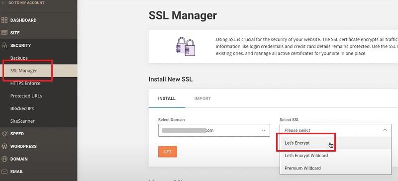 Attivare SSL su SiteGround