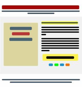 Struttura della homepage