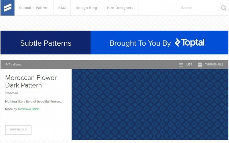 subtle patterns sfondi siti web
