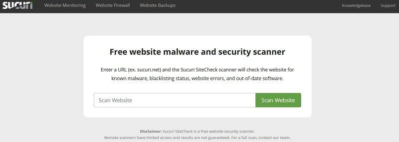 Sucuri site check - verifica se sito è affetto da malware