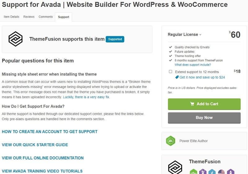 supporto Avada