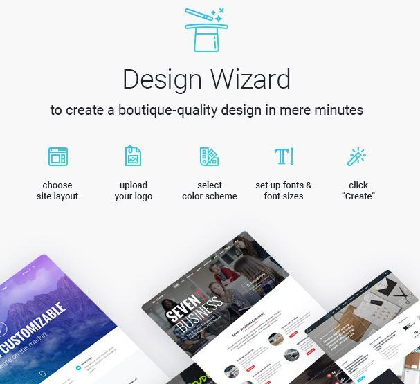 tema The 7 per WordPress - Design Wizard