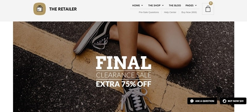 the retailer theme tra i migliori temi woocommerce per un sito fashion
