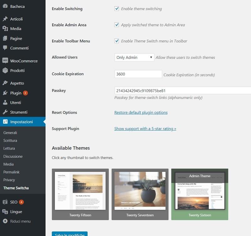 Come lavorare su un tema nuovo, lasciando online il precedente: guida a Theme Switcha