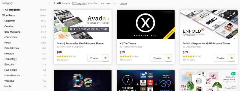 Guida WordPress: scegli il tema su Themeforest