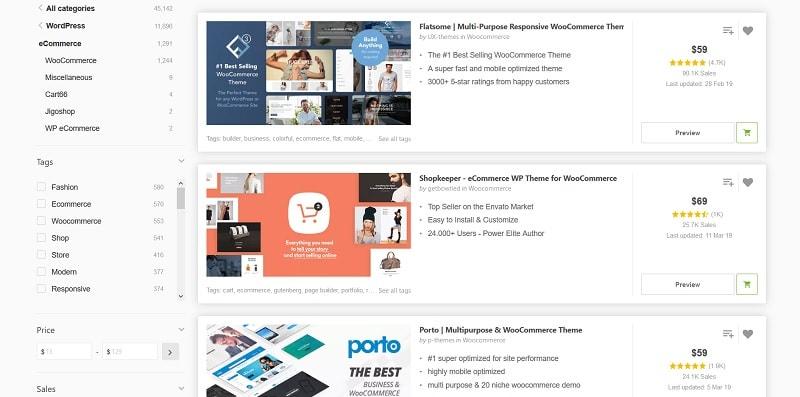 Themeforest ecommerce - costo sito eCommerce
