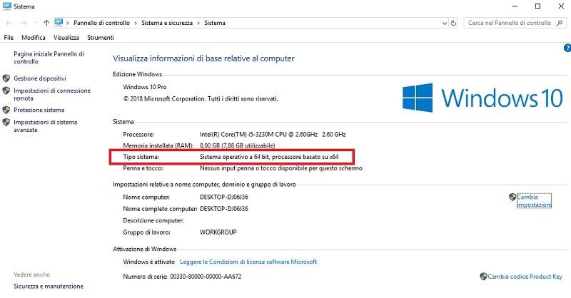 Tipo sistema operativo 32-64 bit