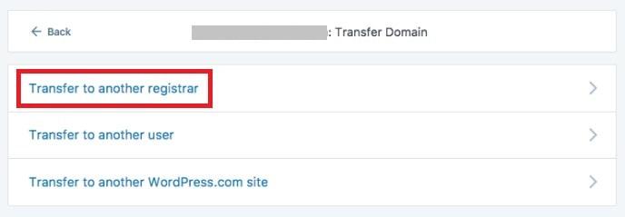 Trasferire dominio da WordPress.com