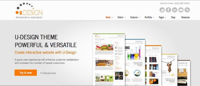 uDesign temi business per il sito WordPress della tua azienda