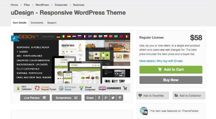 uDesign trai migliori temi WordPress per artisti