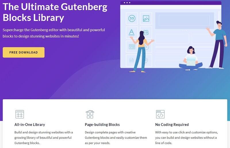 Ultimate Addons plugin per blocchi di Gutenberg