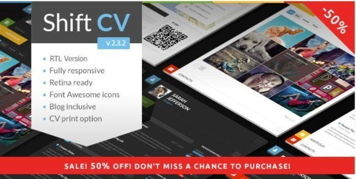 vCard WordPress ShiftCV