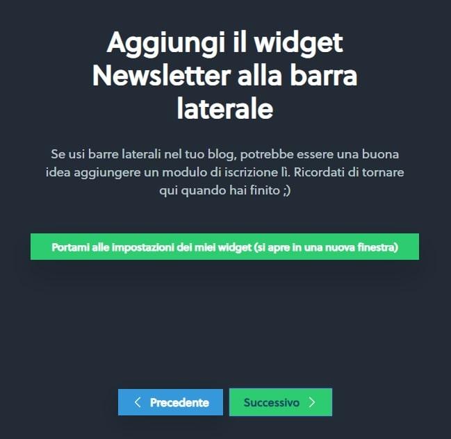 widget sidebar newsletter