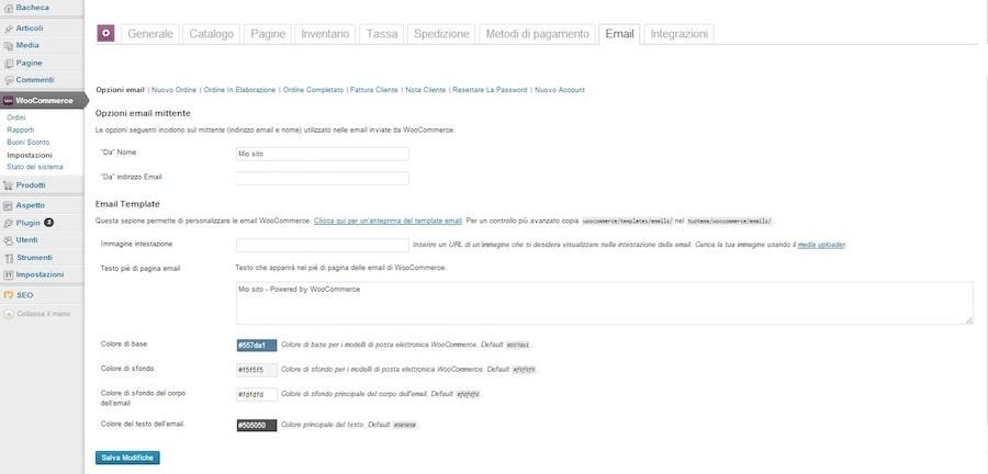 woocommerce - email