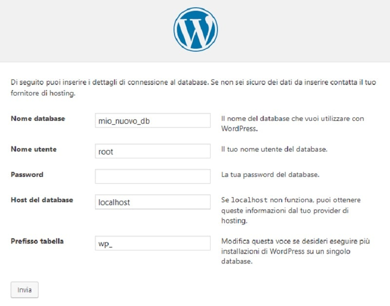 Installazione di WordPress in locale con Wamp