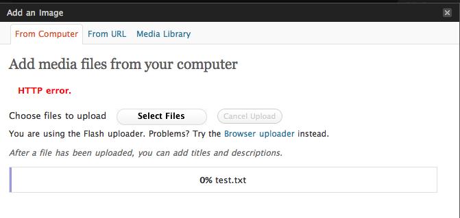 errore HTTP quando carichi immagini su WordPress