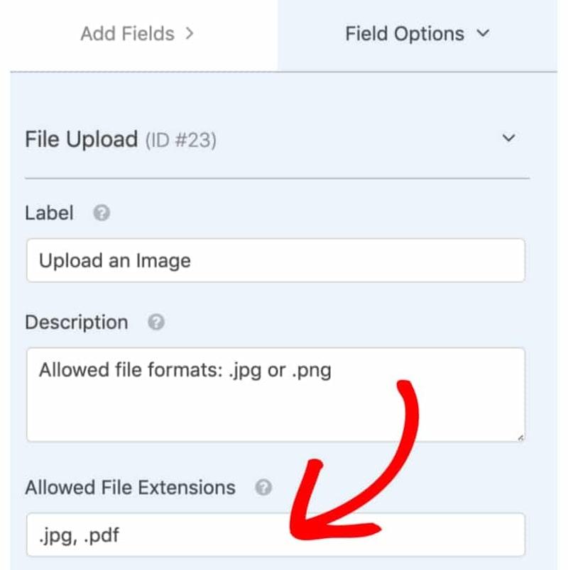 WPForms per upload di immagini da modulo di contatti