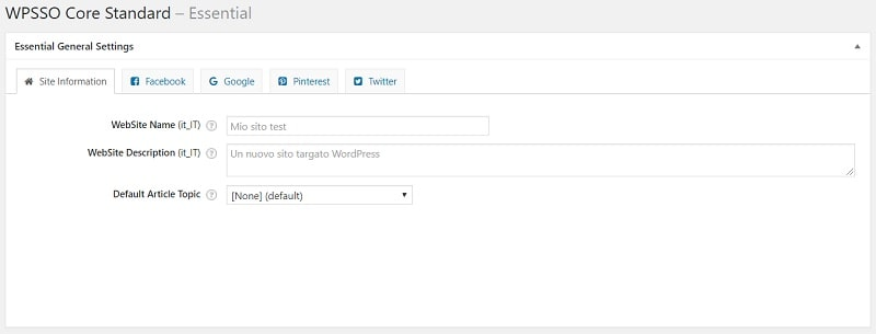 WPSSO Core per ottimizzare le condivisioni dei contenuti sui social