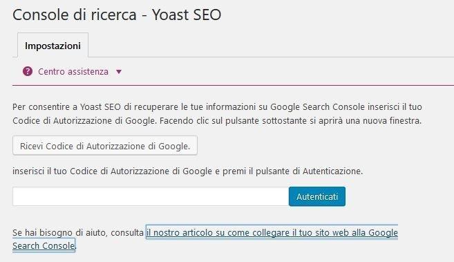 indicizzare un sito - collegare Yoast SEO alla Search Console